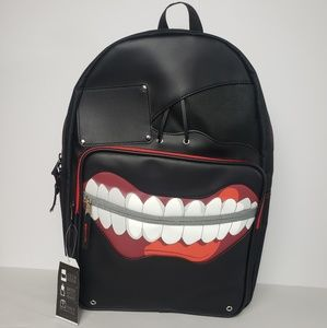 Tokyo Ghoul Ken Kanesi Mask Faux Leather Backpack
